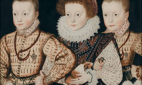 Portrait of three Elizabethan children, including possibly the first portrait of a guinea pig